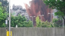 The Army conducted the controlled explosion earlier today.