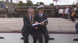 Royal Helena signs for Tall Ships Race 2018