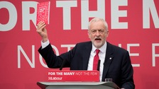 Jeremy Corbyn at the Labour manifesto launch