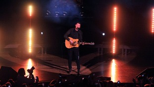 James Arthur performing at the Middlesbrough Town Hall