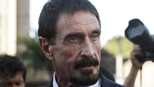 US anti-virus software founder, John McAfee addresses a news conference