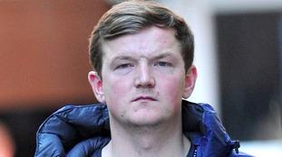 Smirking killer of Paul Croft sticks fingers up at court