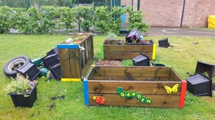 Staff at Valley Primary Academy say they were shocked to find the garden in such a state.