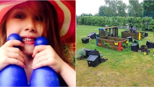 Vandals ruin school garden dedicated to memory of girl killed in bouncy castle tragedy