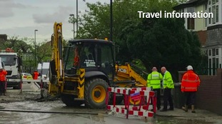 Travel disruption hours after water mains burst