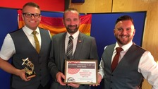 Ross Hogarth-Willis - Director, Mark Nichols - Chair and Stephen Hogarth-Willis – Director at the LGBT awards ceremony.