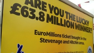 The ticket was bought in the Stevenage and Hitchin area of Hertfordshire