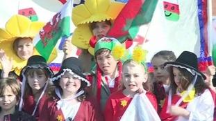 St David's Day celebrations in Prestatyn