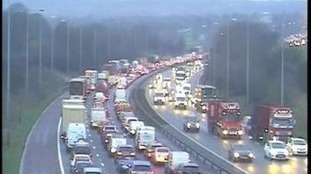 Commuter chaos as crash and spillage blocks M6