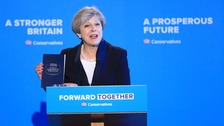 Theresa May launches the Conservative Party manifesto in West Yorkshire.