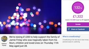 All donations will go to Jamie's family