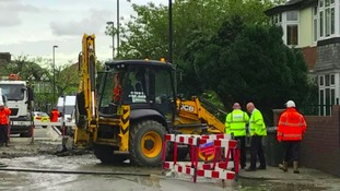Northumbrian Water update customers and North East drivers following burst water pipes on Wednesday.