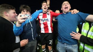 Exeter book a place League Two play-off final in dramatic circumstances at St James Park