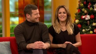The X Factor host Dermot O'Leary and The Xtra Factor host Caroline Flack