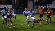 Last minute own goal ends Luton's Wembley dream
