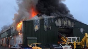 Fire crews tackle car workshop blaze in West Lancs