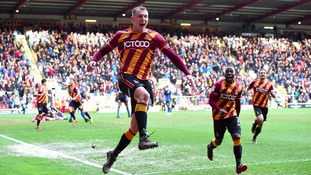 Charlie Wyke has been a hit with the Bradford City fans