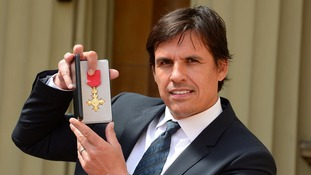Chris Coleman after he was awarded an OBE by the Prince of Wales