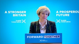 Theresa May said a vote for any other party is a vote to weaken the United Kingdom.