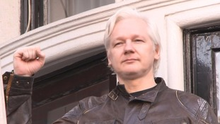 Julian Assange made a speech as he appeared on the Ecuadorian embassy's balcony in London.