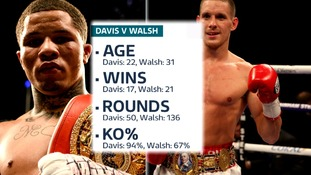 Gervonta Davis and Liam Walsh both have impressive records.
