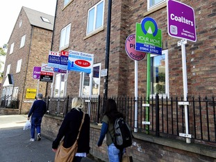 Yorkshire is among the areas where home ownership among the young has dramatically fallen.