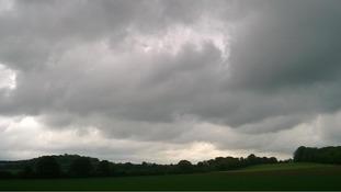 Cloudy skies at Babraham, Cambridgeshire on Friday 19 May 2017