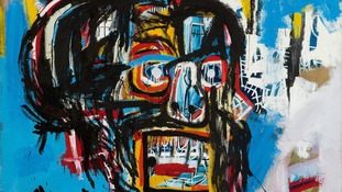 An artwork by Jean-Michel Basquiat has sold for a record $110.5 million.