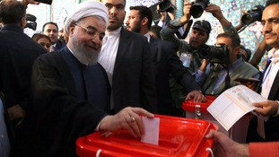 Early vote count puts Hassan Rouhani ahead in Iran presidential election