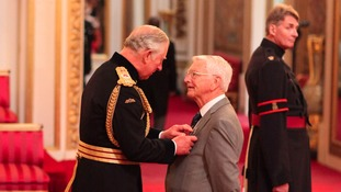 Britain's longest serving Samaritan collects his MBE