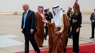 Trump is aiming to build US-Saudi relations.