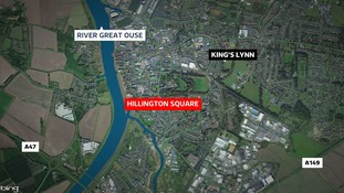 The man was found in Hillington Square in King's Lynn