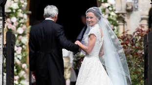 Pippa Middleton ties the knot in Giles Deacon dress