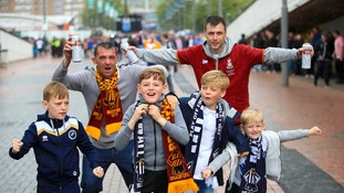 Fans of all ages ready for the match