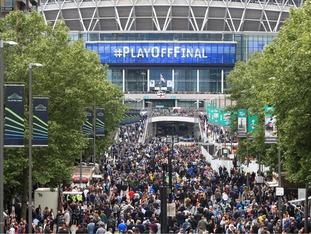 Wembley way packed ahead of kickoff