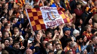 Bradford City fans in Wembley