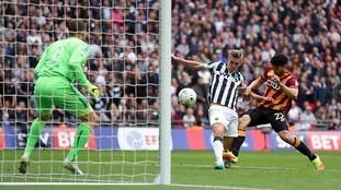 Steve Morison's late strike fires Millwall to the Championship as they overcome Bradford City at Wembley