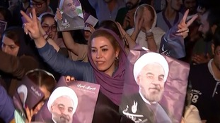 Iran elections: Celebrations in the streets as Hassan Rouhani wins second term as president