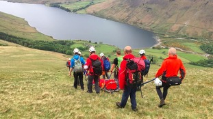 The Wasdale team's rescue on Friday.