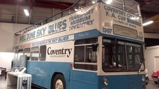 The bus on display at the museum