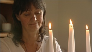 Janice Tunnicliffe has to read by candlelight