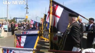 Thousands gather in Gosport to mark 35th anniversary of Falklands conflict