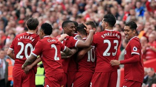 Liverpool seal top four place with a dominant 3-0 win over relegated Middlesbrough at Anfield
