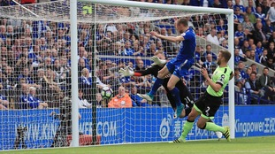 Jamie Vardy rescues a point for Leicester at the King Power against Bournemouth
