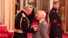 Alan Woodhouse from Wallasey is made an MBE (Member of the Order of the British Empire) by the Prince of Wales