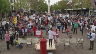 The protest took place in Carlisle city centre.