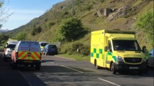 Teenager airlifted to hospital after incident near Merthyr