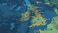 Weather: Dry with plenty of sunny spells