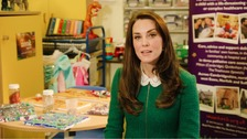 Duchess in video message praising children's hospices