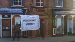 Protesters occupy against austerity